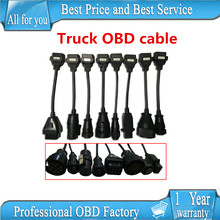 Truck Cables VD TCS CDP Pro OBD2 OBDII Trucks Diagnostic tool connect cable 8 PCS Trucks Cable CDP Plus for WOW CDP SNOOPER