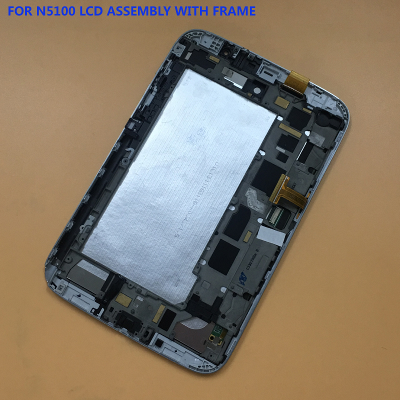 For Samsung Galaxy Note 8 GT-N5100 N5100 3G Touch Screen Sensor Digitizer Glass + LCD Display Panel With Frame