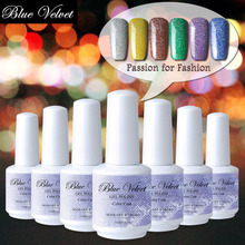 Blue Velvet Long Lasting Lacquer Soak Off 15ml Rainbow Dust Gel Polish Needed Top Base Coat Primer Foundation 12 Colors Totally