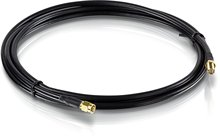 Low Loss RP-SMA Male to RP-SMA Female Antenna Cable, 2 m (6.5 ft.), 1.45 dB Max Signal Loss, TEW-L102