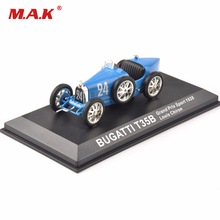 Cheap Kids Toys Diecast 1/43Blue Bugatti T35B Grand Prix Sport 1928 Louis Chiron Classic Car New Year Gift(China)