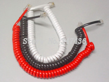 Four core telephone line / curve / phone line curve handle telephone handset cord. Cheap(China)
