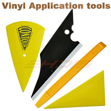 4Pcs Car Window Film Tinting Tools Squeegee Set Kit Vehicle Windshield Film Wrap Tint Scraper Application AT035(China)