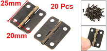 Household Hardware Metal Door Cabinet Folding Bearing Butt Hinge Bronze Tone 20pcs