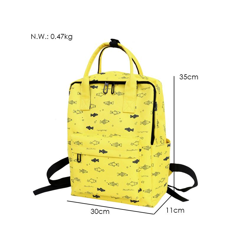 Menghuo Fish Printing Women School Bag Backpack for Teenage Girls Backpacks Female Canvas Children Schoolbag Women Bag s (31)