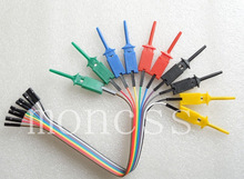 10pcs 5color Test Hook Clips for Logic Analyser  TEST IC +10pcs dupont cable diy kit  new