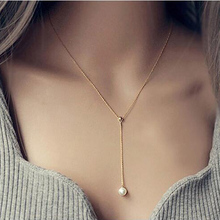 Sweet Imitation Pearl fashion decoration necklace female long design accessories short spring and summer chain necklace