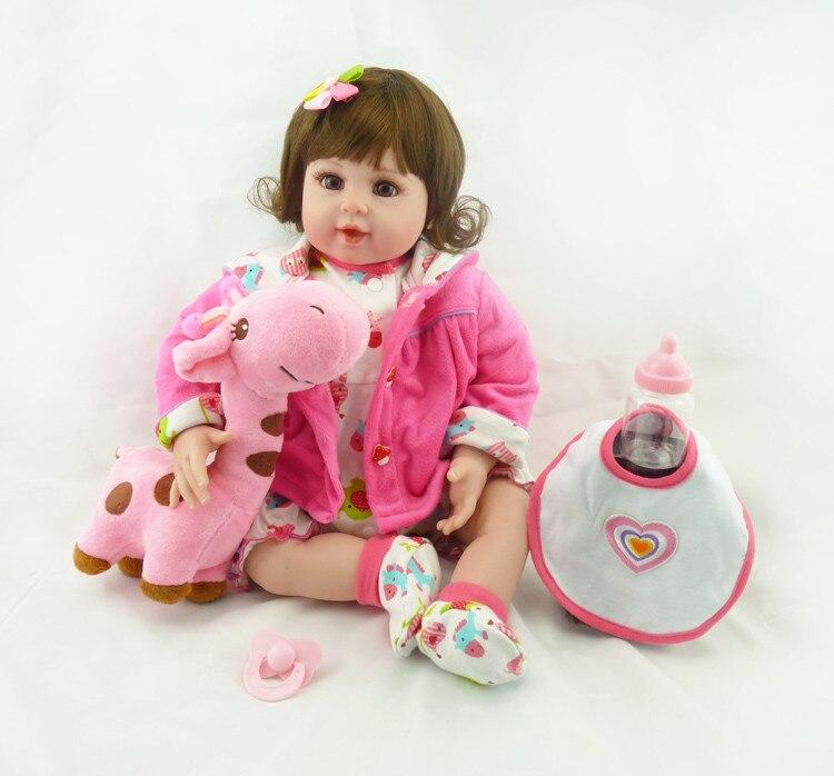 50cm Silicone Reborn babies Doll Toys High-end Girls bonecas Brinquedo Birthday Gift Vinyl Princess Dolls Toy Luxury Accessories<br><br>Aliexpress