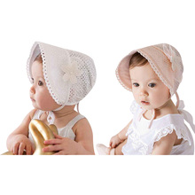 0-12M Sweet Lovely Princess Kids Girls Baby Hat Beanie New Lace Floral Caps Baby Summer Hat