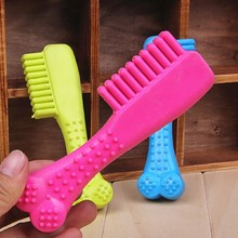 Rubber Comb Shape Cat Play Funny Pets Chewing Toy Cute Random Color Non-Toxic Dog