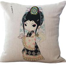 Free Shipping Custom Twelve Beauties Beauty Pattern Cotton Cushion Home Sofa Bedding Decoration Cushion Hot Gifts