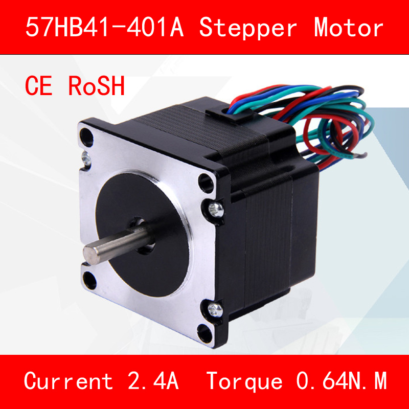 CE ROSH 57HB41-401A Stepper motor torque 0.64N.M Phase current 2.4A for automation equipment 3d printer cnc <br>