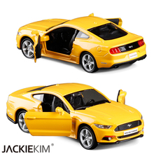Nerw 1:36 Scale Ford Mustang GT Car Education Model Classical Pull back Diecast Metal toy For Collection Gifts Free Shipping