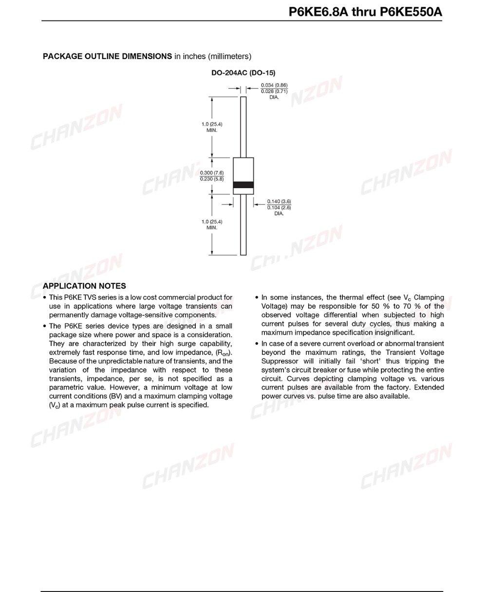 DA1761x50 P6KE6.8A-DO-15-50 CZIMG-F