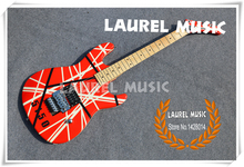 Hot Selling Modern Taste Kramer Guitar 5150 EVH Electric Guitar Multi Striped Floyd Rose China Music Instruments