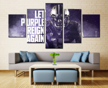 5 Panel Washington Huskies Let Purple Reign Again Modern Home Wall Decor Canvas Picture Art Hd Print Painting On Canvas Artworks