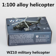 1:100 alloy helicopter,WZ10 military helicopter model,die-cast metal toy,children's favorite educational toys,free shipping