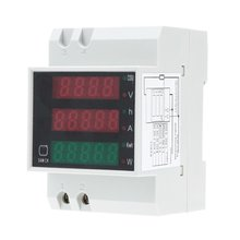FSLH-100A AC80 - 300V digital multifunctional DIN Rail Voltage Meter Voltmeter White Power Factor(China)