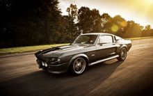 2252B 1967 Mustang Eleanor - GT500 Super Race Car-Wall Sticker Silk Poster Light Canvas Decoration(China)