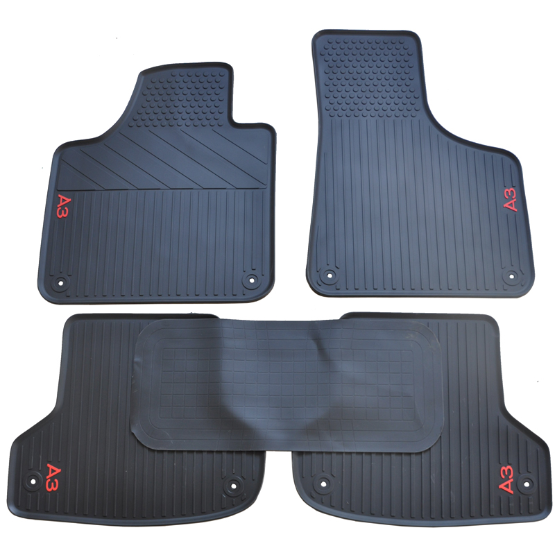 All Weather Heavy Duty Floor Mat Set Waterproof Stain-Resistant MICOOS Compatible with Car Floor Mat Carpet Audi A3 2014-2020