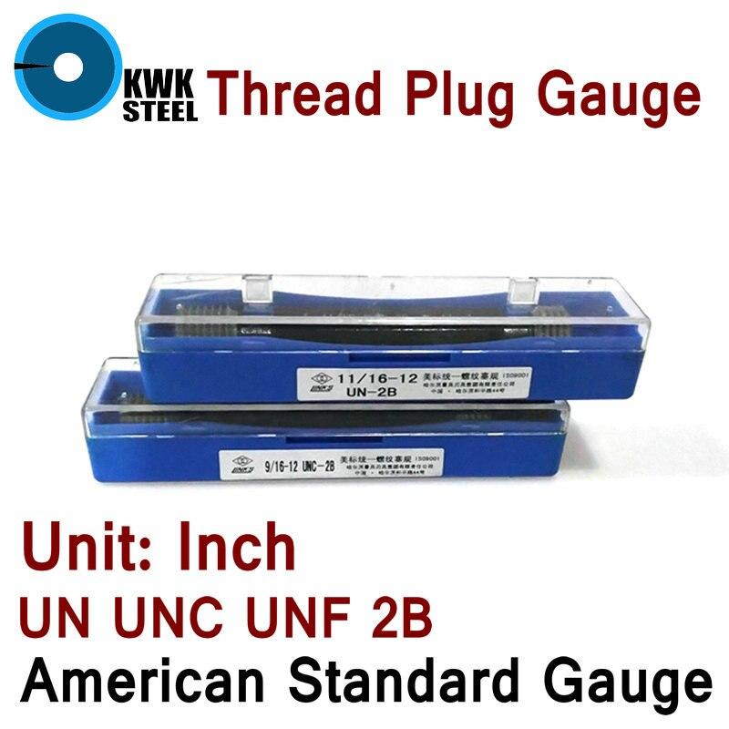 Thread Plug Gauge GO/NO GO Gage American Standard Gauge Inch UN UNC UNF 2B Internal Screw Gage Fine Pitch Thread Test Tool HMCT<br><br>Aliexpress