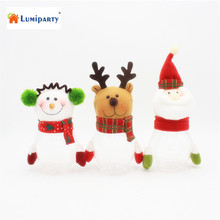 LumiParty Santa Claus Snowman Elk Christmas Candy Jars Xmas Decoration Home New Year Gifts Kids Tree Ornaments - Starmerx Life Museum store