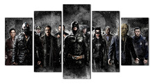 5 pieces Modern Movie Batman Poster children's room Decorative painting on the wall poster Modular picture(no frame)