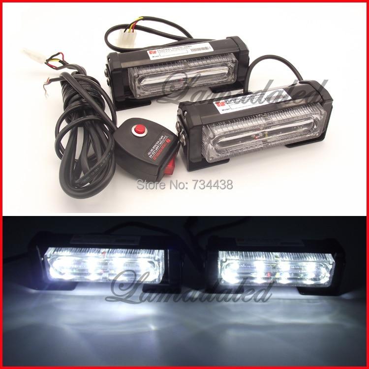 2x4 led car strobe lights police vehicle strobe light bar auto grille strobe lamp motorcycle flash light RED BLUE WHITE AMBER<br>