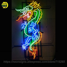 Neon Signs For Chinese Dragon Glass Tube Neon Handcraft Hotel Decorate Bar Signs Neon Light Sign Letrero Neon Bulbs Lamps 26x20