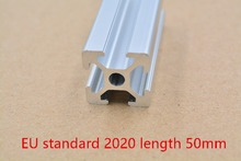 2020 aluminum extrusion profile european standard white length 50mm industrial aluminum profile workbench 1pcs(China)