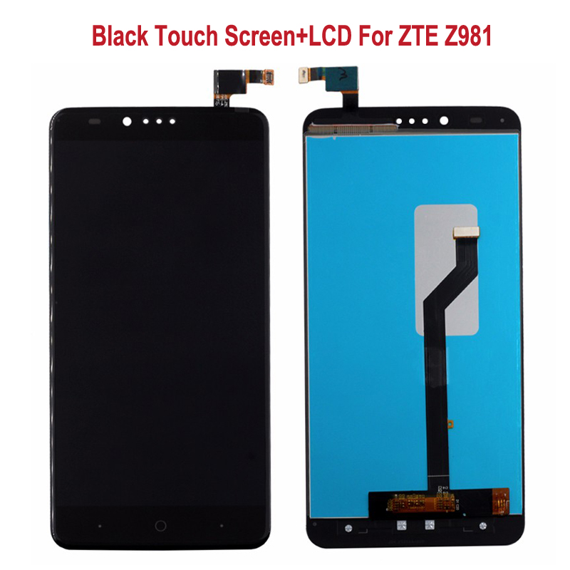 Black Display For ZTE Zmax Pro Z981 LCD Display Touch Screen Digitizer Glass Assembly Replacement For ZTE Zmax Pro Z981 Phone<br><br>Aliexpress