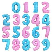 40 Inch Blue Number Foil Balloons Birthday Party Digit Ballons Wedding Decor Baloons Christmas Holiday Supplies