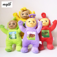 mylb 1Pcs 33cm Teletubbies Baby toys plush Dolls 3D Export US toy for Kids Christmas gifts Children gift TV Doll free shipping
