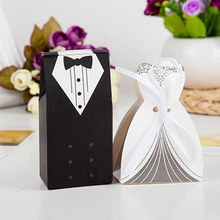 New Fashion Bride and Groom Wedding Favor Boxes Gift Box Candy Boxes