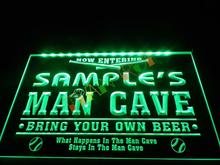 DZ032- Name Personalized Custom Man Cave Baseball Bar Beer Neon Sign   hang sign home decor shop crafts