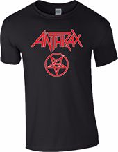 2017 Brand T Shirt Fashion O-Neck Cotton Short Sleeve Mens Anthrax Band Rock Metal Music Among The Kings Tour Red Logo  Shirts