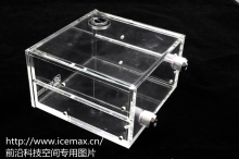 QYFREEZE full-transparent PMMA tank double optical drive position computer water cooling tank.GQSX-Y4