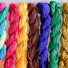 24m/roll Nylon Cord Thread Multicolors 1mm Chinese Knot Macrame Rattail Satin Shamballa Beads Thread for DIY Jewelry Findings(China)