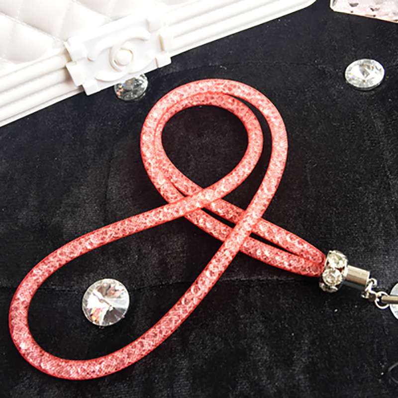Luxury Mobile Phone Straps Lanyard Accessories Bling crystal luxury diamond Telephone Belt Hang Neck Lanyards for Keys Id Cards(China)