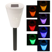 Waterproof Outdoor Solar Power Lawn Garden Lamps LED Butterfly Spot Light Garden Path Rainbown RGB Color Home Filed Decoration(China)