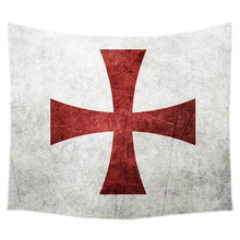 Knights Templar Cross Print Decorative Tapestry Bedding Outlet Wall Hanging Carpet Door Curtain Textiles(China)