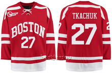 Kowell Customized Boston University 27 Brady Tkachuk Stitched Hockey Jersey(China)