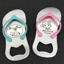 50pcs Personalized pink or blue bottle opener of Guest gift of wedding favors and gifts Birthday gift(China)