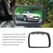 Right Rearview Mirror Frame Car Door Side View Protection Cap Housing Case for BMW E53 2000-2006