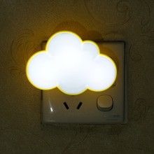 White clouds red LED light lamp socket with switch plug creative small bulb feeding bedroom luminous energy