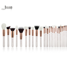 Jessup Pearl White/Rose Gold Professional Makeup Brushes brushes Make up Brush Tools kit Foundation set Powder Blushes(China)