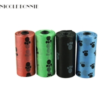 10Roll=150PCS Degradable Pet Dog Waste Poop Bag With Printing Doggy Bag LFY113