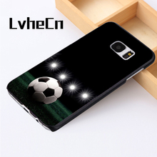 LvheCn phone case cover For Samsung Galaxy S3 S4 S5 mini S6 S7 S8 edge plus Note2 3 4 5 7 8 Star Soccer football