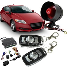 1-Way Car Protection Vehicle Alarm Security System Entry Keyless Siren +2 Remote