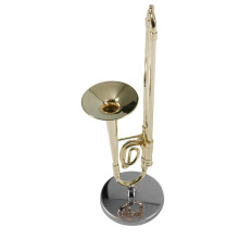 Creative Mini Trombone A Nice Gift For Child Surface Gold Lacquer Mini Trombone Model Musical Instrument Trombone New Arrival(China)